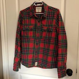 Abercrombie & Fitch flannel plaid shirt, XL